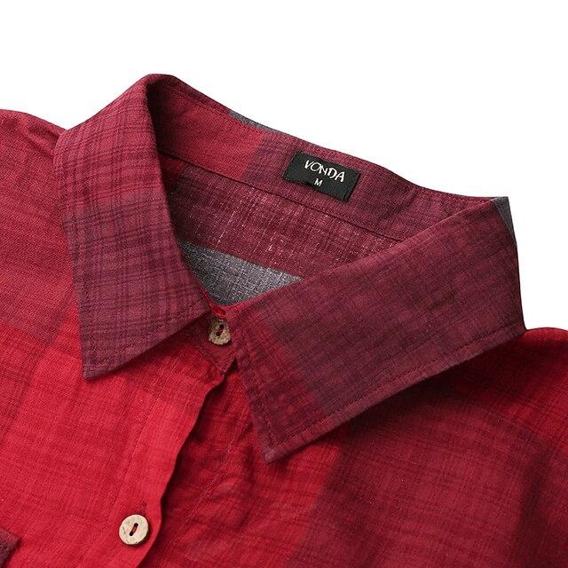 extended shirt dress, plaid print 5