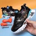 Горячая Распродажа  кожаная детская обувь для мальчиков  теплая детская обувь для бега  дизайнерская спортивная обувь для мальчиков и девоч...