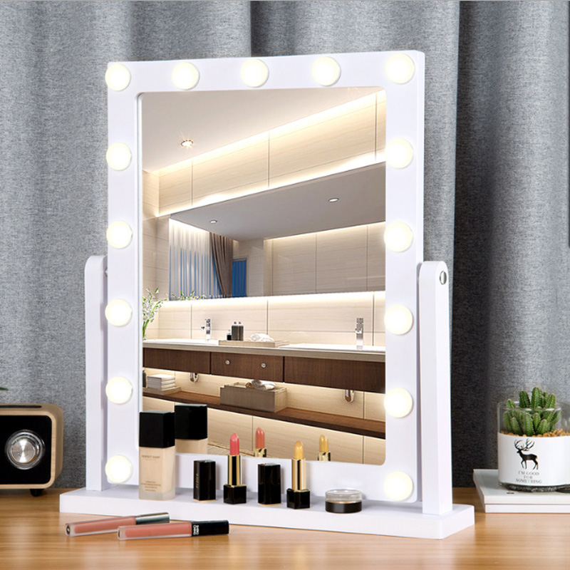 Large Desktop Makeup Mirror Led Light Fill Makeup Mirror Beauty Salon Studio Professional Makeup Mirror Live Fill Mirror