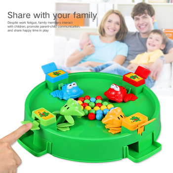 Frog Eat Peas Parent-child Interaction Fun Big Crazy Greedy Kids Puzzle Board Game eat your peas