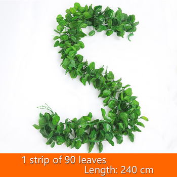 21 Style 1pc high quality Artificial plant Rattan ivy Creeper leaf Vivid Vine home Wedding wall decor garden festival decoration 7
