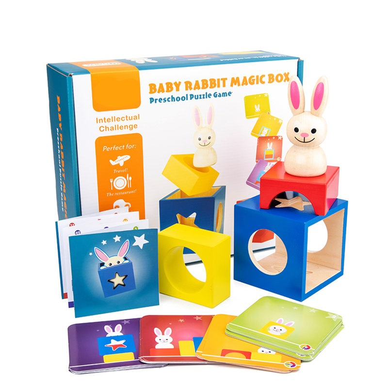 Smart BUNNY BOO Board Games 60 Challenge With Solution Games IQ Training Early Education Toys For Children Oyuncak Jouet Enfant