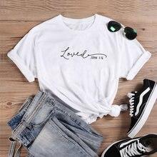 Camisa de algodão de manga curta camisa de manga curta de john 3:16 camisa de algodão de manga curta feminina camisa de t
