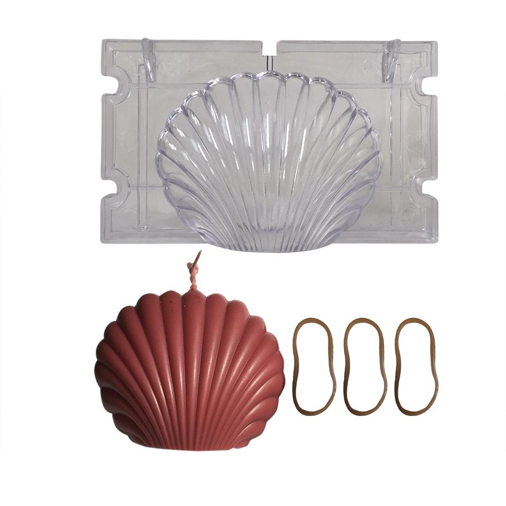 Candle Mould Handmade Candle Mold Silicone 3D Scallop Mould DIY Gypsum Aromatherapy Plaster Handcraft Scallop Candle Mold