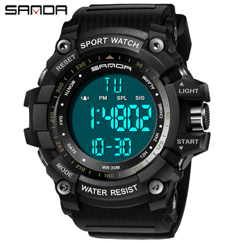 SANDA 359 Men g shock Watch Sports Digital Watches Luxury Military Waterproof Alarm Man Wrist Electronic Clock Relogio Masculino luxury men s lcd digital watches outdoor life waterproof sports clock rubber wrist watch men luxury stopwatch date clock relogio