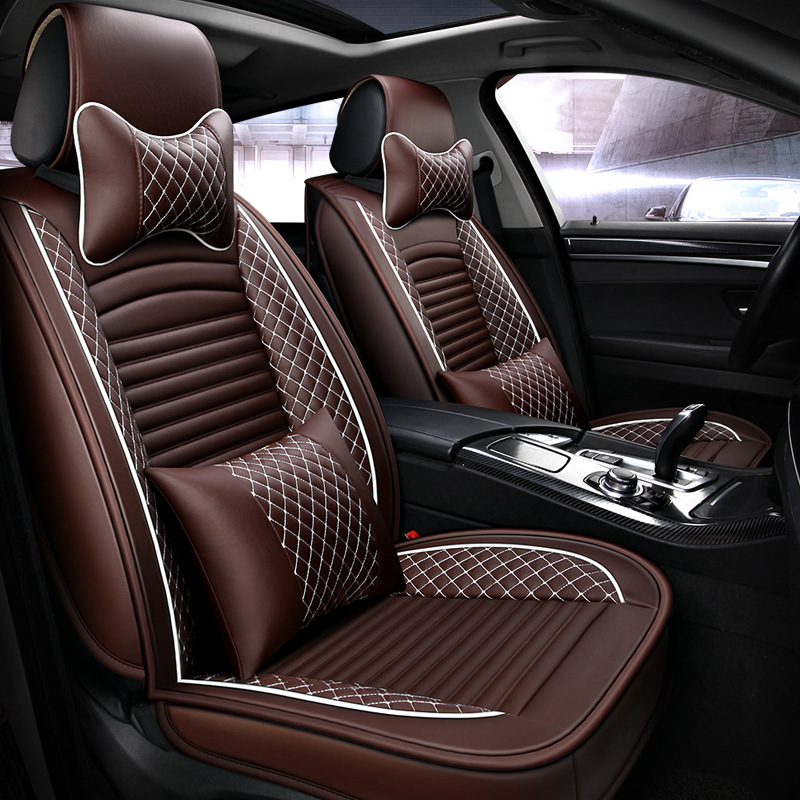 Car-Seat-Cover-Set Interiors Auto Universal-Size New Embroidery-Style Luxury