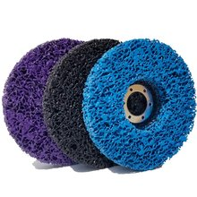 3 PCS 115mm Black/Blue/Purple Stripping Wheel Strip Discs for Angle Grinders Clean & Remove Paint, Coating, Rust and Oxidize