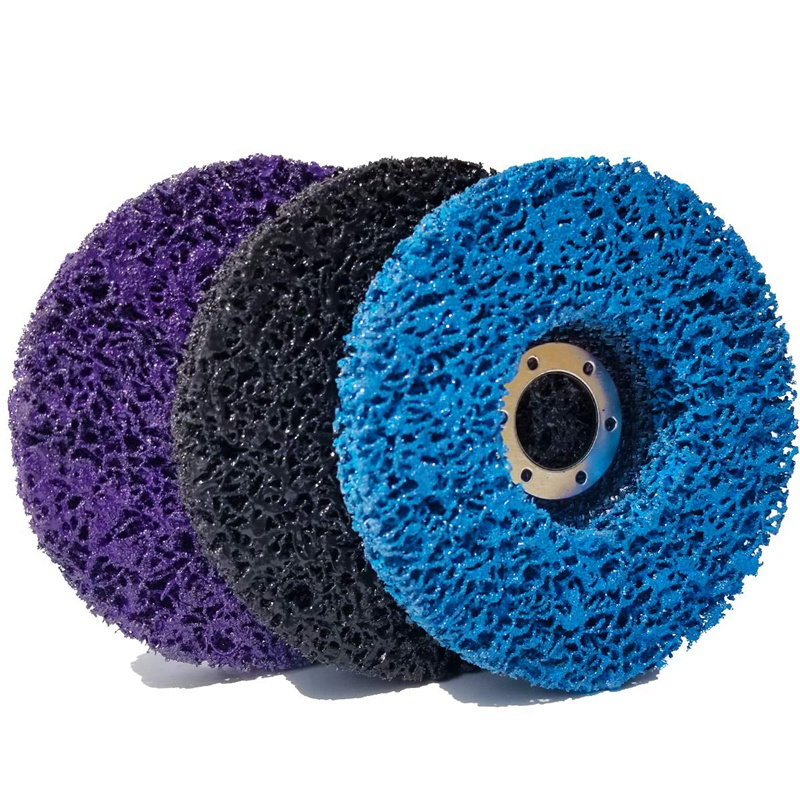 Hot Sale 3 PCS 115mm Black/Blue/Purple Stripping Wheel Strip Discs For Angle Grinders Clean & Remove Paint, Coating, Rust And Ox