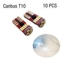 10pcs T10 led canbus T10 15led 4014 smd LED No OBC Error 194 168 W5W T10 15smd canbus non polarity LED Wedge bulb car-styling