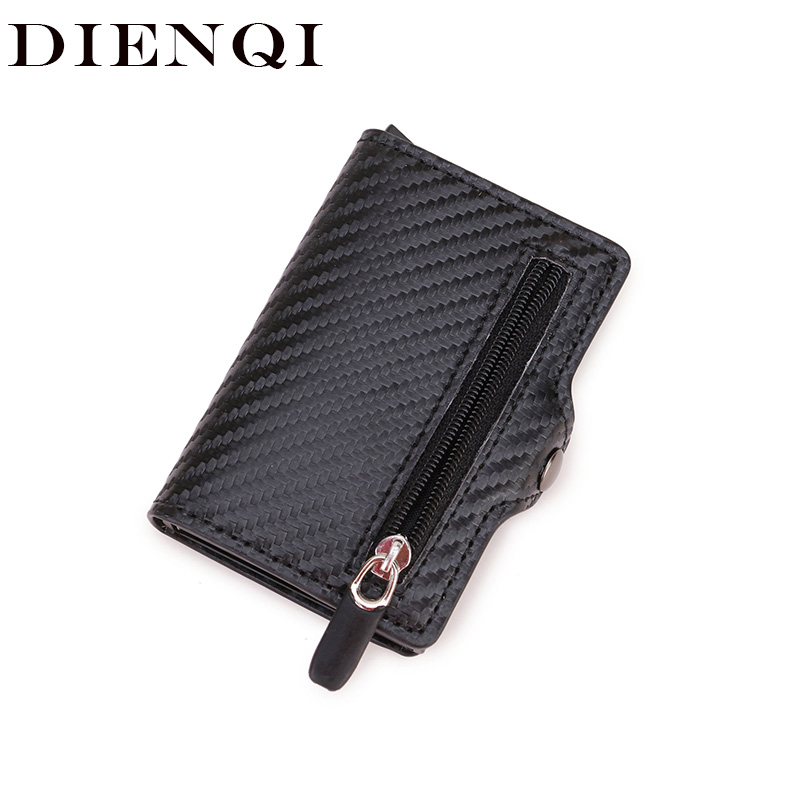 DIENQI Rfid Card Holder Men Wallets Money Bag Male Vintage Black Short Purse 2020 Small Leather Thin Slim Mini Magic Wallet Hand
