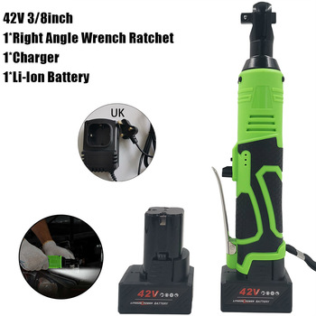 Hot Sale 42V 3/8inch Electric Cordless Ratchet Right Angle Wrench Drill W/ Li-ion Battery Durable And Practical