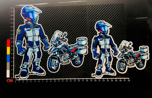 Image 2 - 1PCS Car Styling Vinyl Applique Tape Motorcycle Side Box Oil Tank Decorate Stickers for GS Adventure MOTO RIDE R1200GS