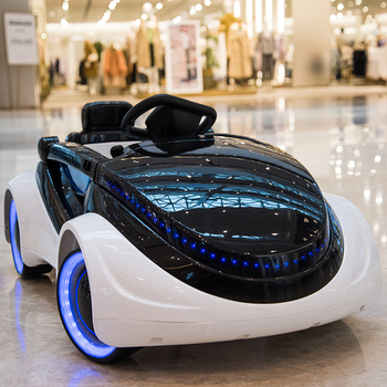 Sci-fi Children's Car Electric Four-wheeled Car Baby Remote Control Kids Motorcycle Toy Car Baby Stroller