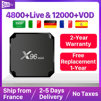SUBTV IPTV Subscription 1 Year X96 Mini 2+16G IPTV Android 7.1 TV Box French Arabic Portugal Italy France IPTV Arabic Code