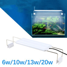 18-70cm acquario LED Light Super Slim Fish Tank pianta acquatica coltiva l'illuminazione lampada a Clip luminosa impermeabile piante blu LED 18-70cm