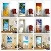 3D Carta Da Parati Per Porta Adesivo Auto-adesivo FAI DA TE Poster Spiaggia del Mare Paesaggio Murale Design Per La Casa Porta Della Decorazione Della Decalcomania adesivi porte