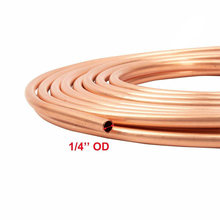 Tubing Copper oil pipe 25Foot Coil 1/4inch Nickel Brake Tube Anti-rust(China)