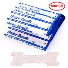 100-300 pçs anti ronco adesivos dilatadores nasais aliviar o congestionamento do nariz cintas ronco melhor respiração pacote aleatório