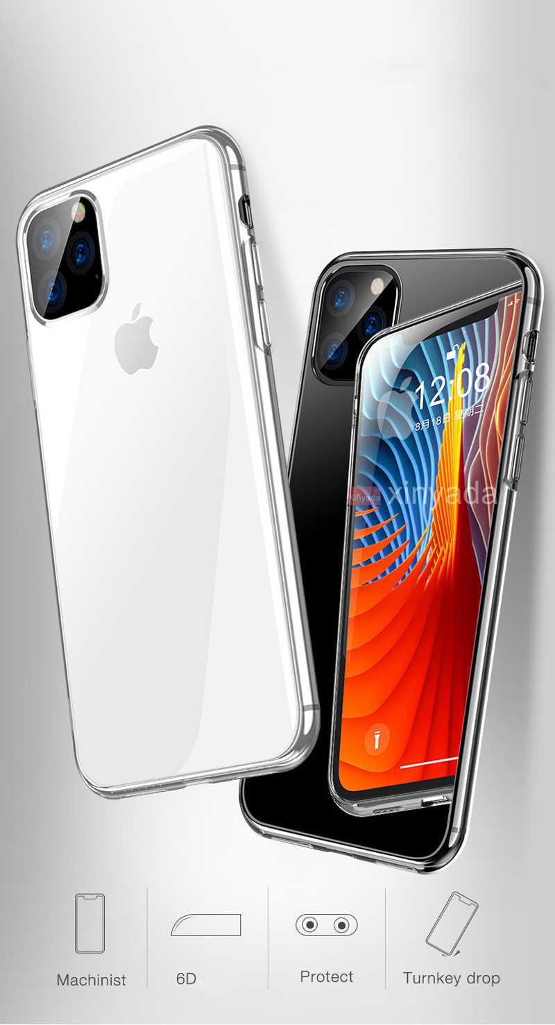 ソフトクリアケース Iphone 11 プロマックス iPhone11 プロケース保護バンパーシリコーン TPU シェル鎧 coque