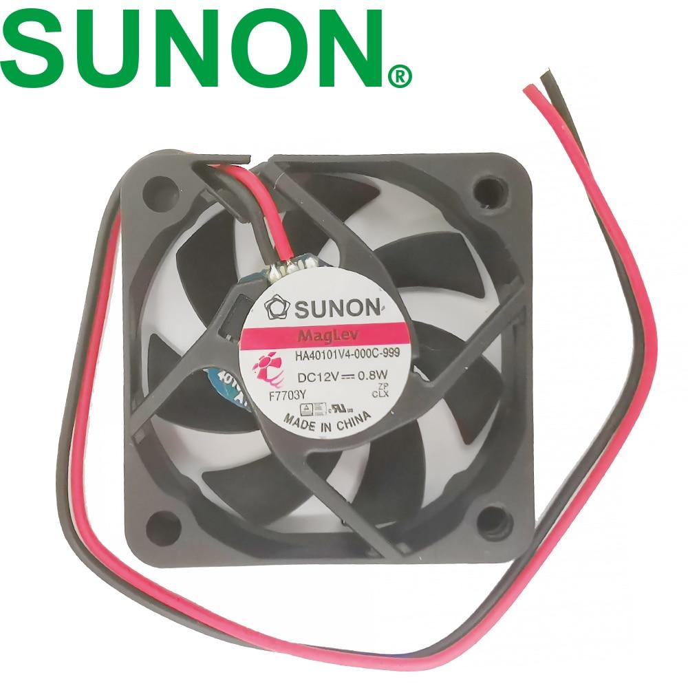 For Sunon HA40101V4-0000-c99 4010 40MM 4CM 40*40*10MM Cooling Fan 12V 0.8W 0.06A 3pin Support Velocimetry