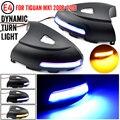 Для VW Volkswagen Tiguan MK1 2008-2016 светодиодный динамический поворотов последовательного боковое зеркало индикатор светильник лужа светильник