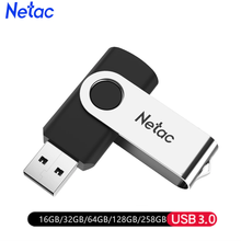Netac Mental USB Flash Drive 16GB 32GB 64GB usb stick pen drive Pendrive USB 3.0 USB Flash Memory Stick usb key Black color(China)