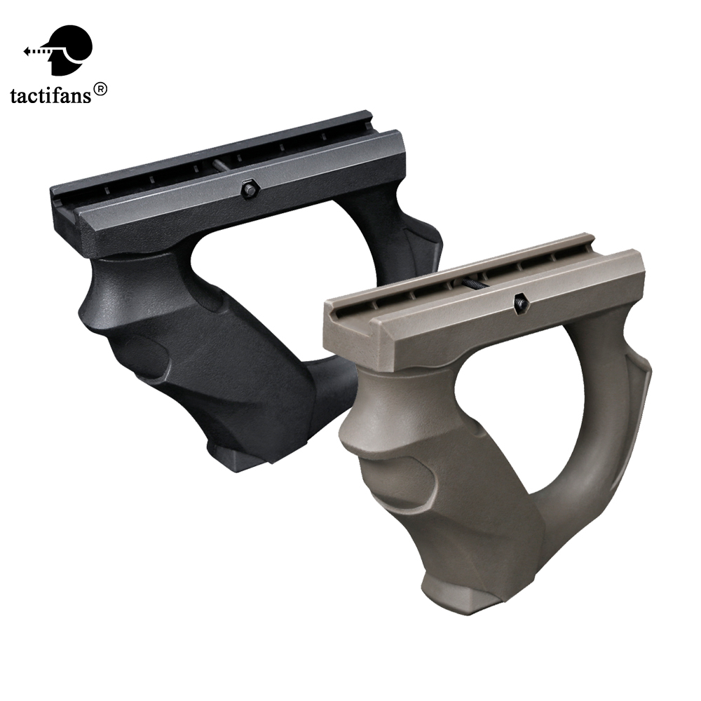 Tactifans Front Grip For 20mm Guide Rail Mount Forward Fore Handle Gel Blaster Paintball Army Tactical Toy Gun Accessories Nylon