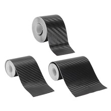 Nano Carbon Fiber Auto Sticker Diy Plakken Protector Strip Auto Instaplijsten Zijspiegel Anti Kras Tape Waterdichte Bescherming Film(China)
