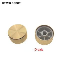 1 Uds. De perilla de potenciómetro de aleación de aluminio, 25x13mm, 6mm, Agujero del eje, dorado (eje D)