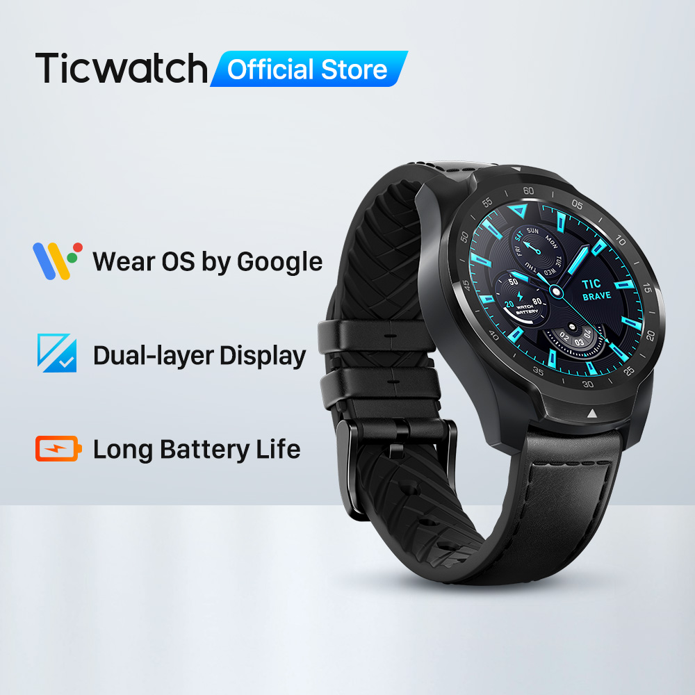 Hot DealsTicwatch Tracking Heart-Rate-Monitor NFC Dual-Display Sleep Ip68 Waterproof 1GB 1GB-RAM