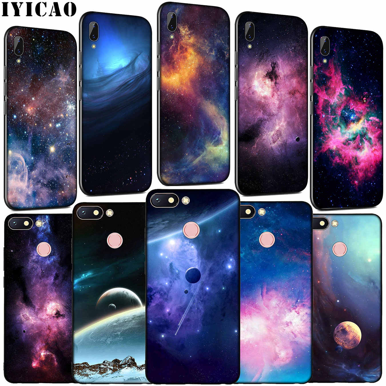 Iyicao Purple Space Star Soft Silicone Telefoon Case Voor Xiaomi Redmi Note 8 8T 8A 7 7A 6 6A 5 5A K30 K20 Pro Gaan S2 Cover
