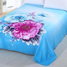Матовая ткань для простыни, цветок, простыня с печатным рисунком 245 см x 245 см