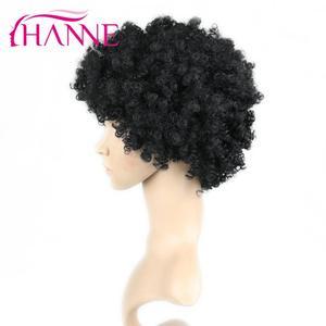Image 5 - Hanne krótka brązowa naturalna peruka peruka z kręconych włosów typu Kinky peruka syntetyczna dla czarnej kobiety Cosplay afrykańskie fryzury peruki wysokotemperaturowe