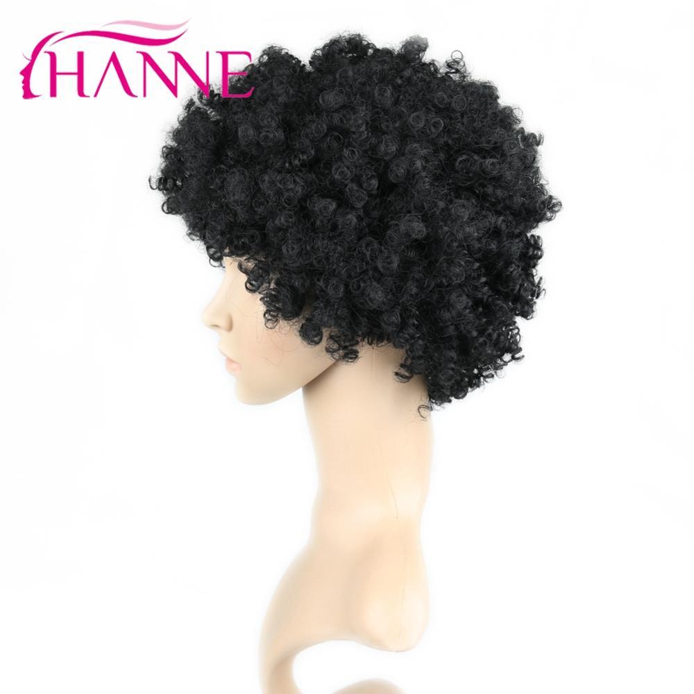 Image 3 - Hanne короткий коричневый натуральный парик кудрявый парик синтетический парик для черной женщины косплей африканские прически высокотемпературные волокна WСинтетические парики для косплея    АлиЭкспресс