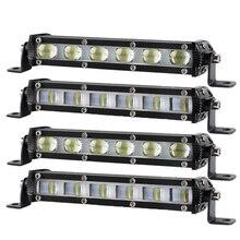 A barra 6d lajes 7 posturas para carros a luz de trabalho holofotos lampada inundacao conducao nevoei