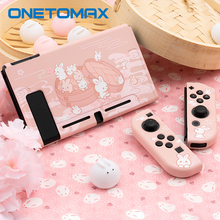 For Nintendo Switch Case Kawaii Pink Protective Case Full Cover Shell Hard TPU Cover Box For Nintendo Switch Game Accessories