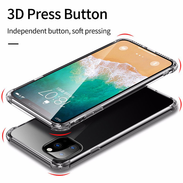 Shockproof Bumper Clear Silicone Case for iPhone 11/11 Pro/11 Pro Max 3
