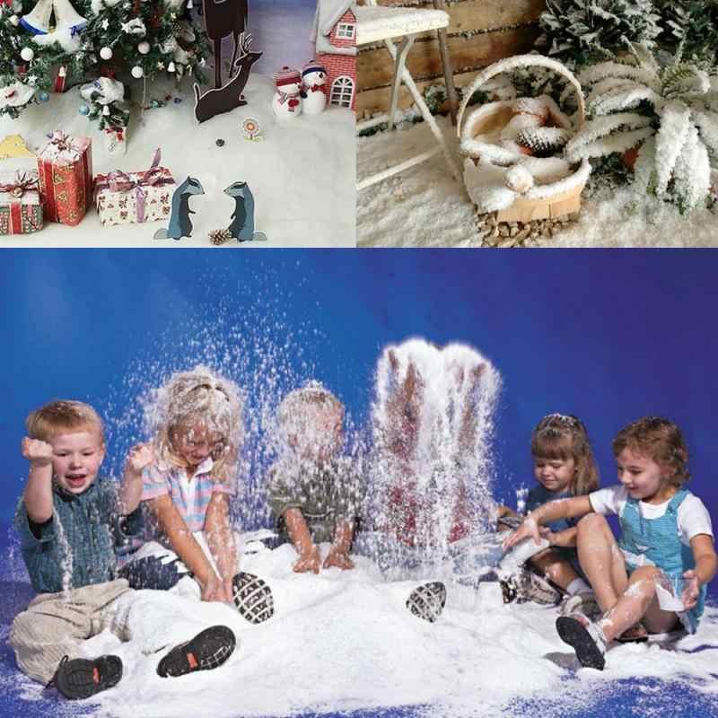 Künstliche Schneeflocken Gefälschte Magie Instant Schnee Pulver Festival Gefrorene Partei Liefert Weihnachten Dekorationen Für Home Hochzeit Schnee
