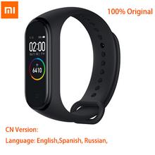 Oryginalny Xiaomi Mi zespół 4 NFC Mi zespół 4 inteligentny zegarek Bluetooth AMOLED kolorowy ekran tętno Fitness Sport inteligentna bransoletka tanie tanio CN (pochodzenie) Android Wear Na nadgarstku Wszystko kompatybilny 4 gb Passometer Fitness tracker Wiadomość przypomnienie