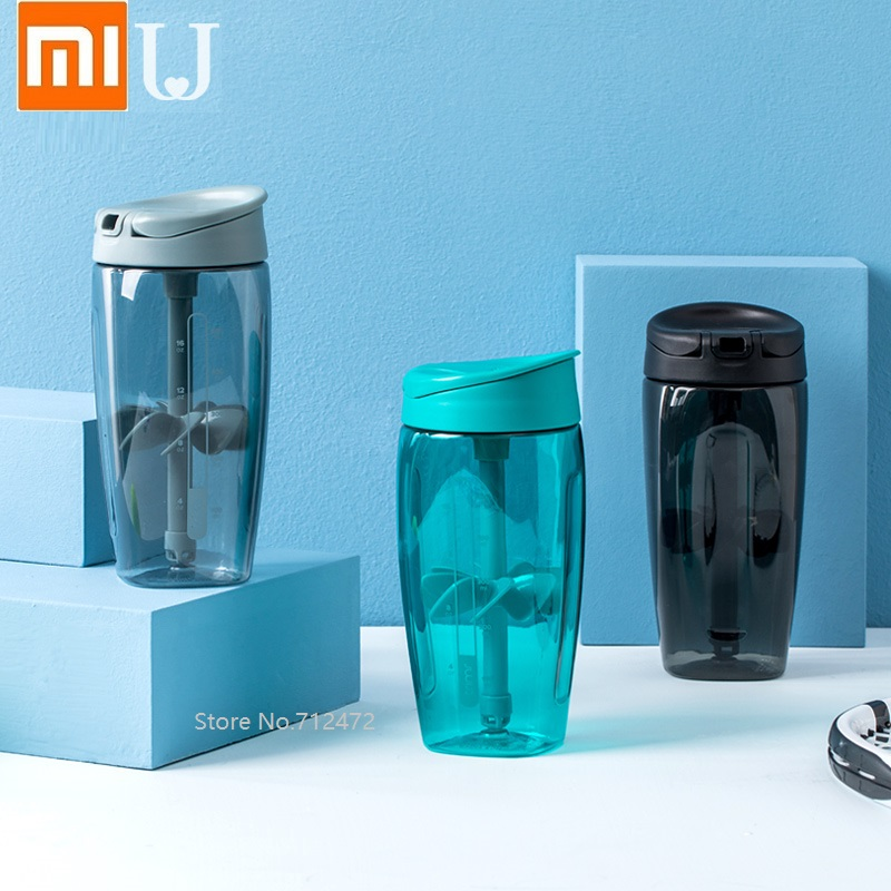 Xiaomi Jordanjudy Stirring Cup Summer Outdoor Sports Fitness Cup Portable Plastic Water Cup 700ml Large Capacity Water Bottle