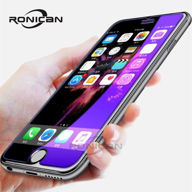 Chống Thủy Tinh Màu Xanh Trên Iphone 7 6S 5 5S Se 5C Đèn Tia Kính Cường Lực Dành Cho iPhone 7 8 Plus Cho Iphone X XS XR XS MAX Kính Màn Hình