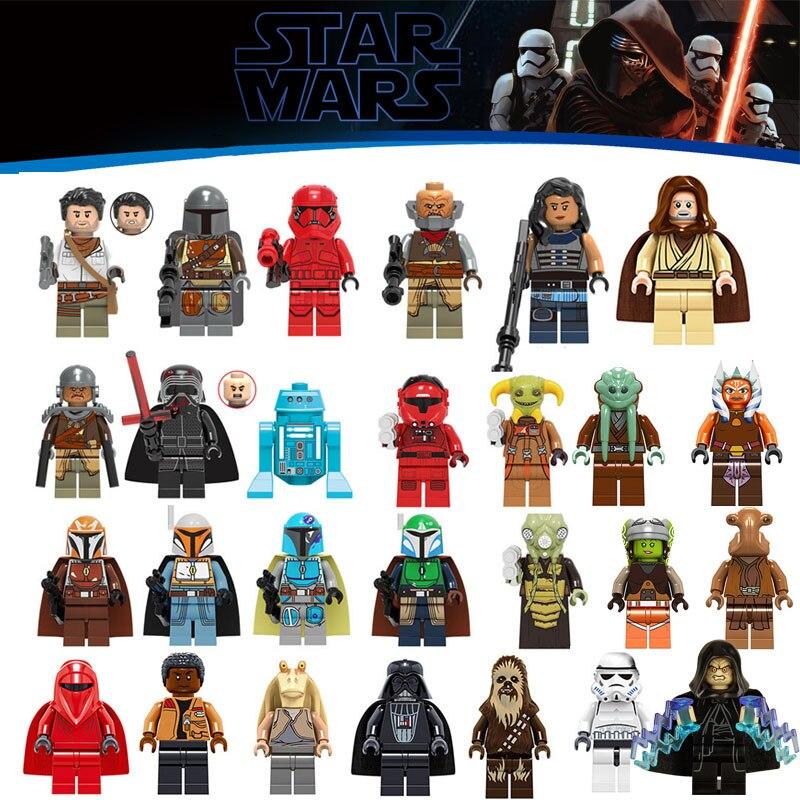 Single Sale 2020 New Star Wars Figures Legoinglys Starwars Leia Yoda Luke Sith Lord Darth Vader Minifigured Building Blocks Toys