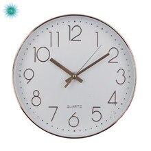 Moderne Design Stille Wanduhr Quarz Wand Uhr Kunststoff Antike Designer Uhr Home Decor für Wohnzimmer Rose Gold Farbe