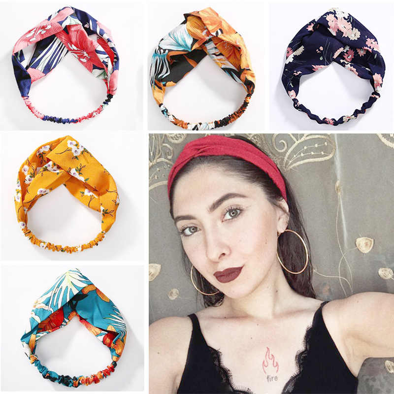 Flowers Flora Printed Headband Rope Elastic Hair Bands Hair Gum Clip Women Female Turban Hair Accessories Haarbanden Scrunchie