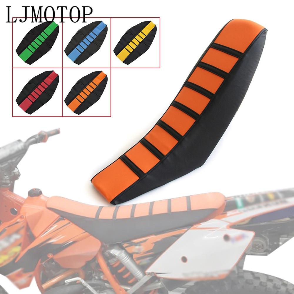 Neueste Motorrad Gummi Gestreift Weichen Sitz Abdeckung für KTM SX EXC XC XCW SXF Dirt Bike Off Road Motocross Honda 50cc 100cc 250cc