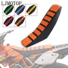 Housse de siège souple rayée en caoutchouc pour moto, pour KTM SX XC EXC XCW SXF Dirt Bike, Motocross hors route Honda 50cc 100cc 250cc, nouvelle collection