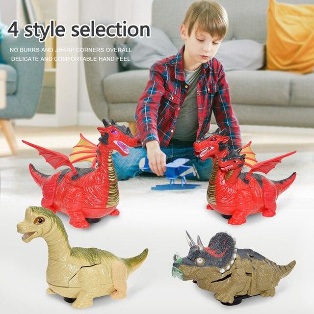 Dinosaure déformé jouet animaux électroniques Transformation Robot jouet Action & jouet figurines voiture enfants garçons cadeaux dinosaure Collection modèle