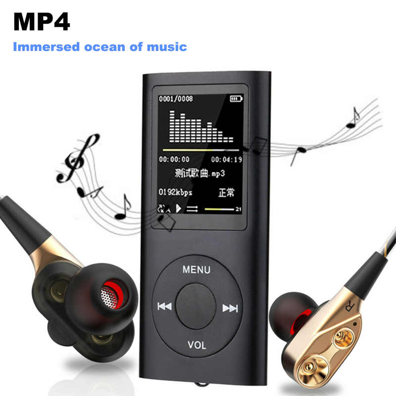 "2019 reproductor MP4 MP3 Digital Led Video 1,8 ""LCD MP3 MP4 música Video reproductor de medios FM Radio música hogar foto deporte herramienta caliente"