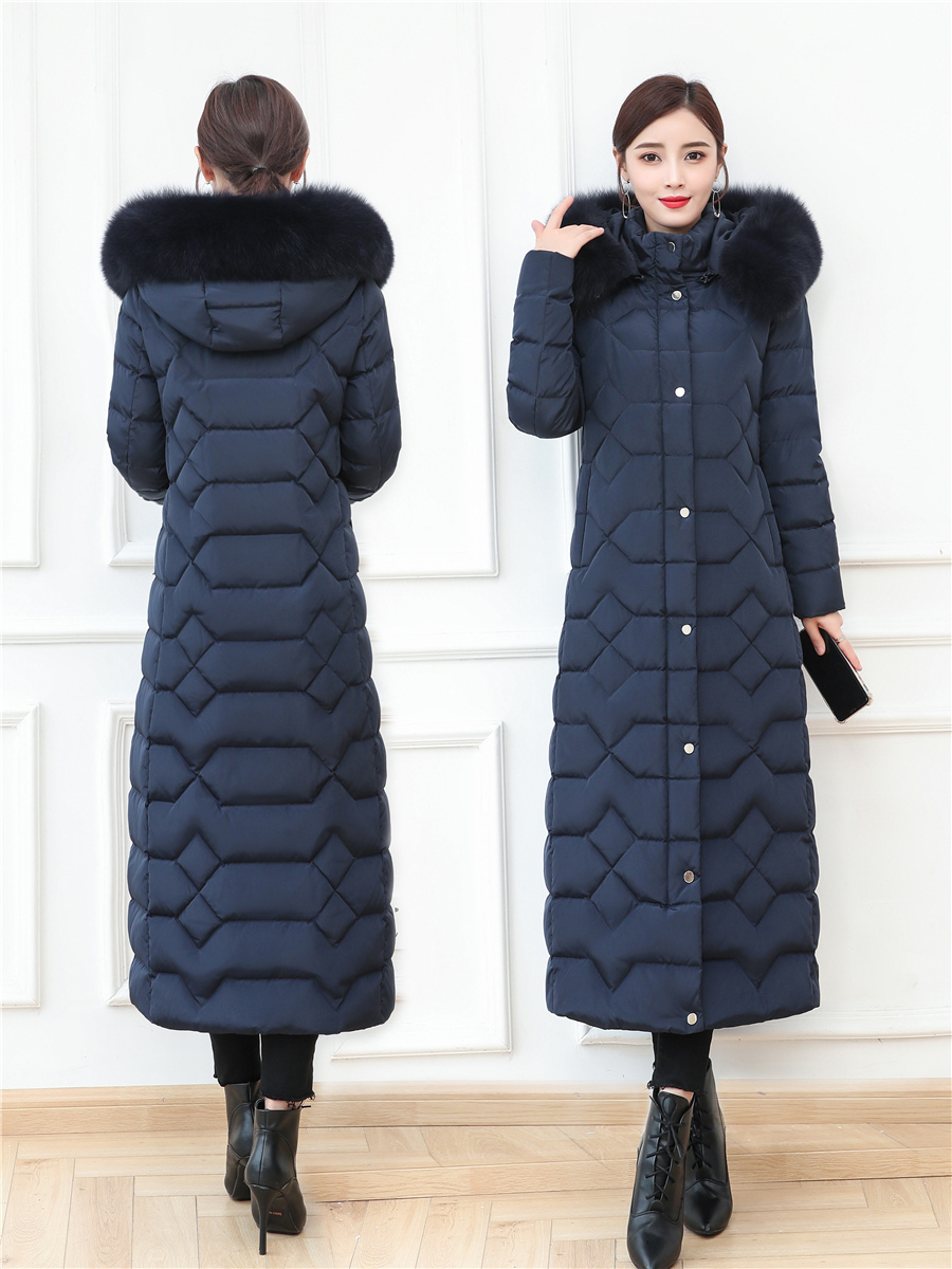 Winter Coat Female Thick Warm Brand 90% Duck Down Jacket Women Natural Fox Fur Hooded Clothes Korean Down Parkas 9002