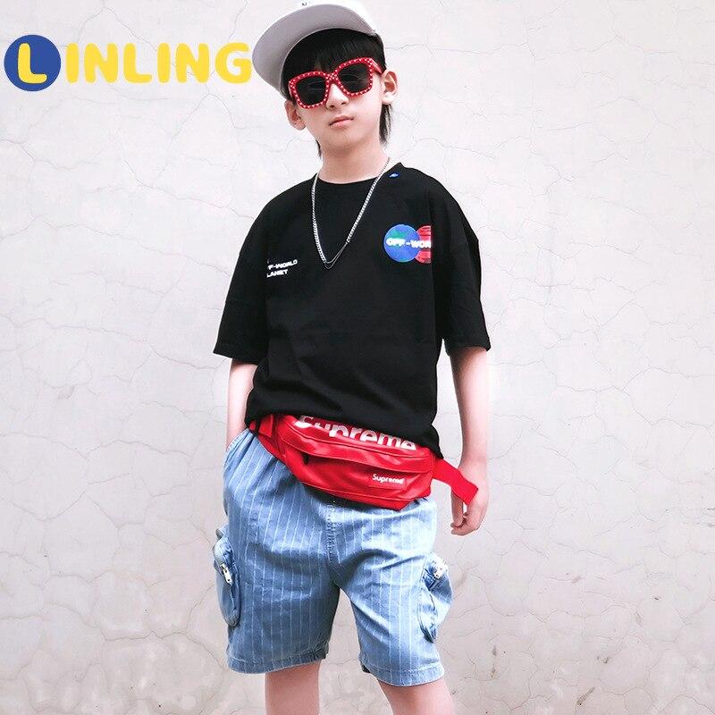 LINLING Fashion  Cotton Kids Costume Cartoon Prints Children's T-shirt Summer Soft Cotton Boys T Shirt V241 1